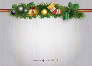 Fondo de adornos navideños
