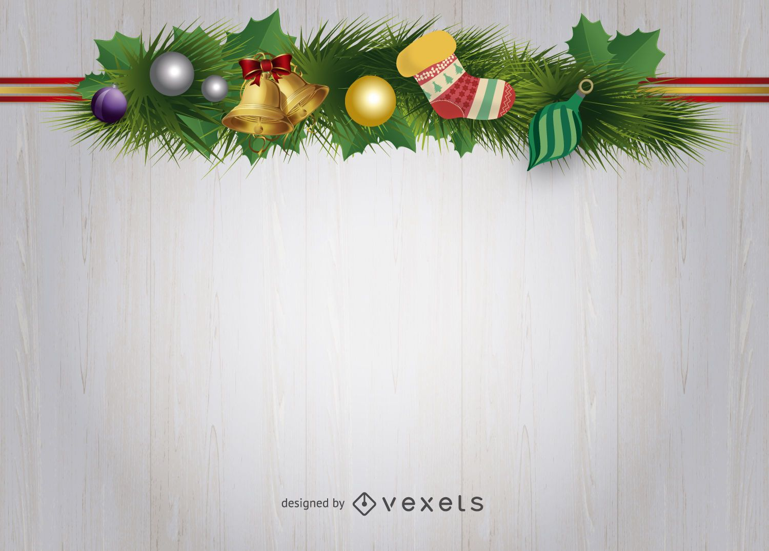 Christmas Decorations Background Vector Download