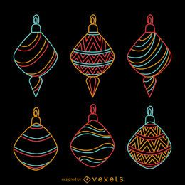 Neon Christmas decorative ornaments