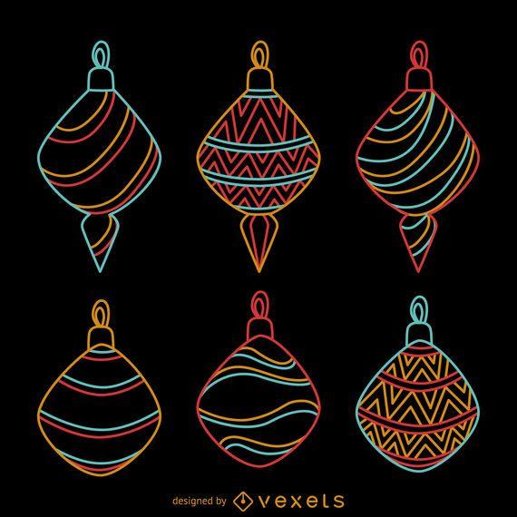 Neon Christmas decorative ornaments