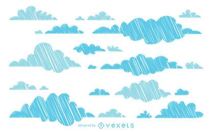 Hand drawn cloud background