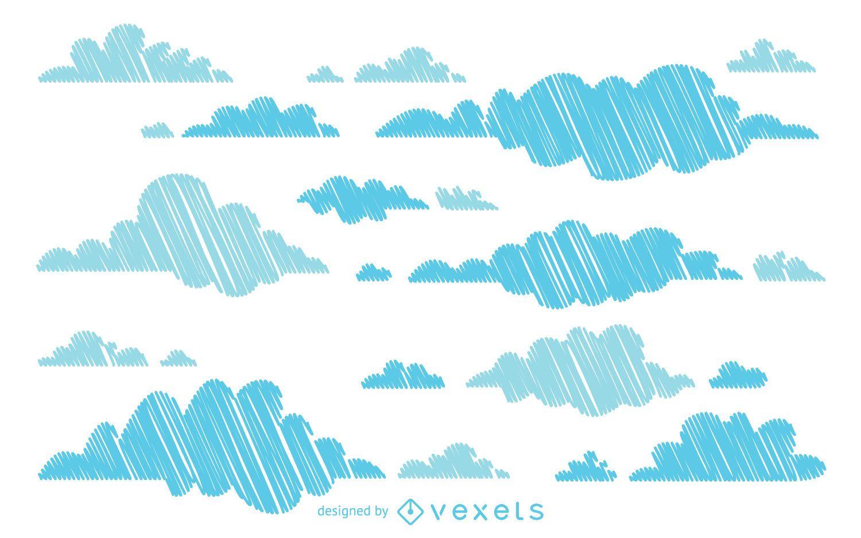 Hand drawn cloud background