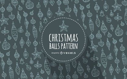 Christmas ornament outlines pattern background