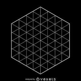 rejilla hexagonal geometría sagrada