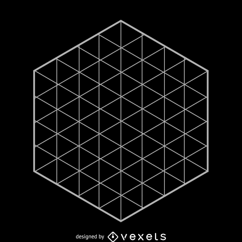 Hexagonal grid sacred geometry - Vector download