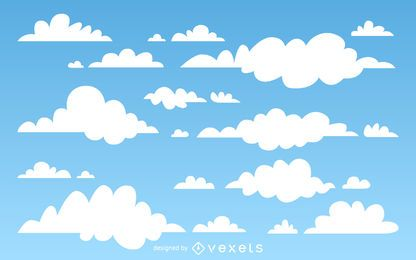Fondo de nubes ilustradas