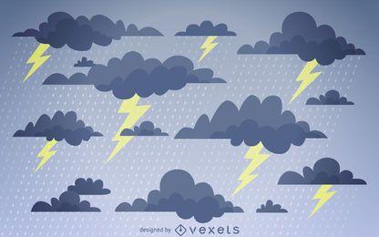 Gewitterwolken Hintergrund