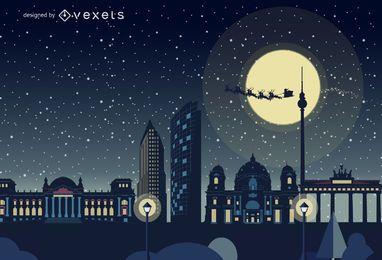 Horizonte de Berlín de Navidad