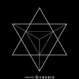 Ilustração da geometria sagrada da estrela