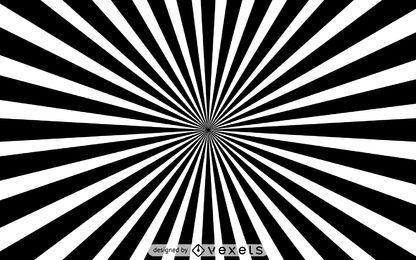 Starburst fondo blanco y negro