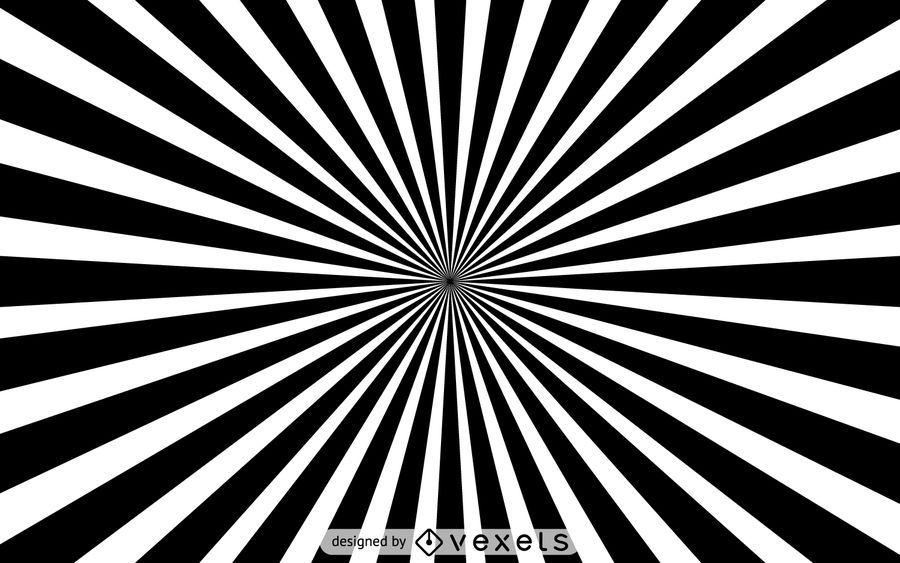 Black and white starburst