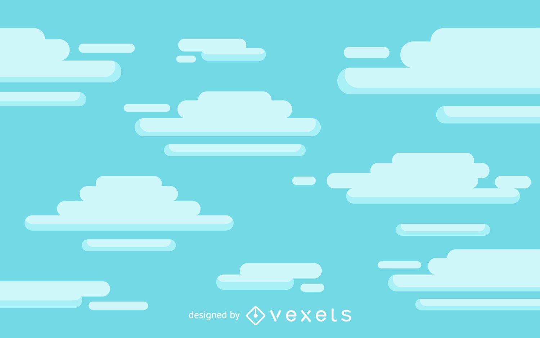 Fundo de nuvens de desenho animado