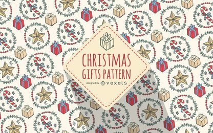 Christmas gifts pattern background
