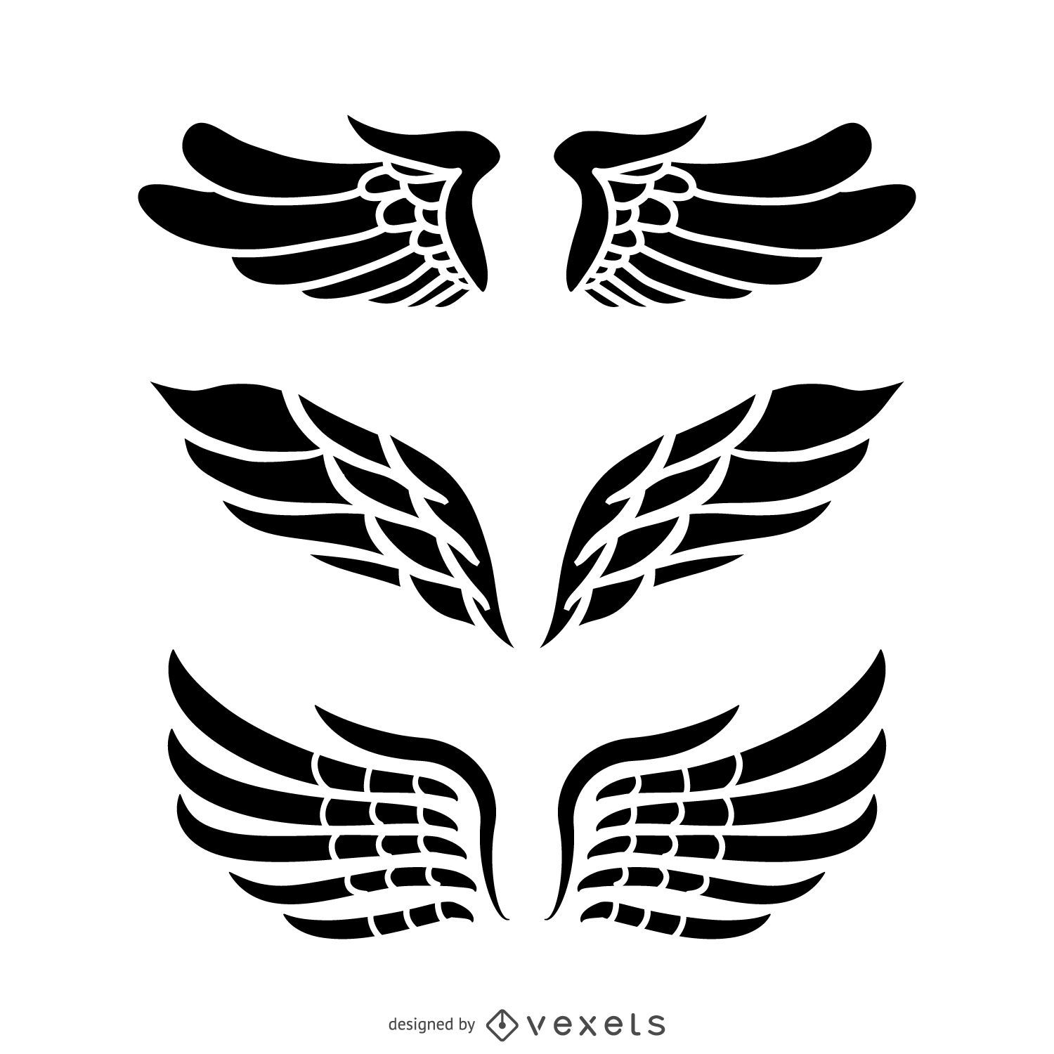 Isolated Angel Wings Illustrations