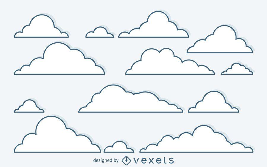 Fondo de nube lineal