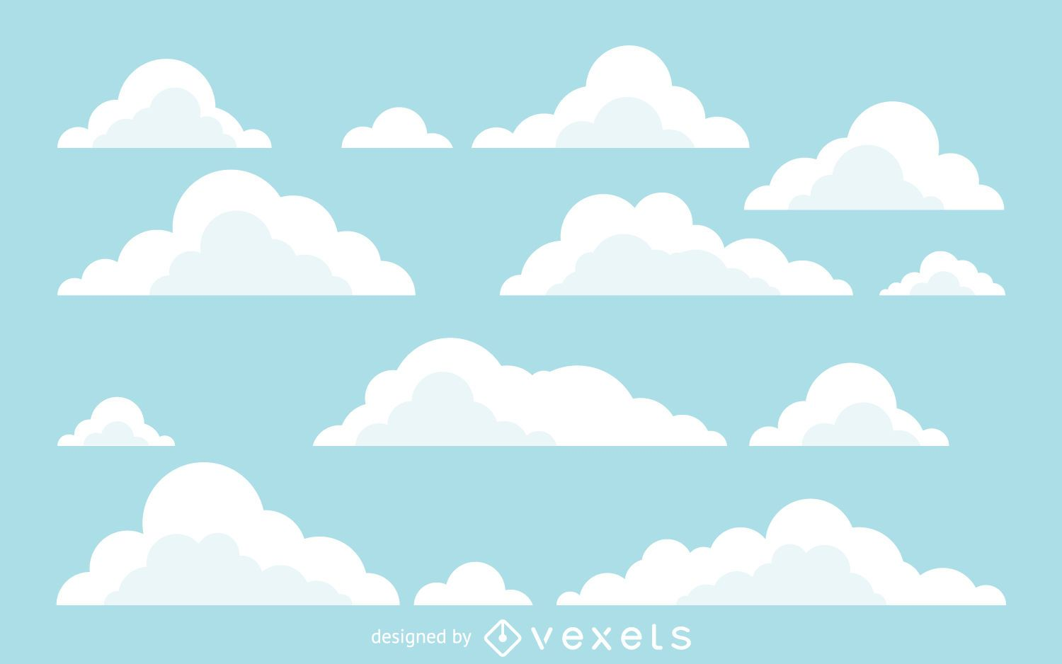 Flat Cloud Illustrations Background Vector Download