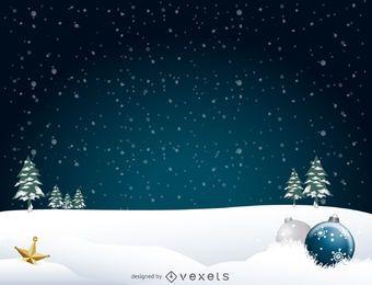 Fondo del paisaje de la Navidad