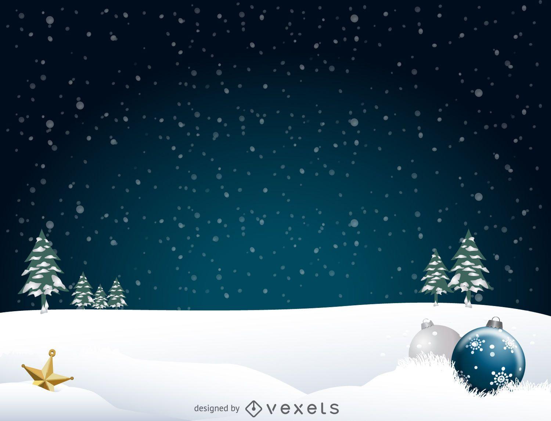 Christmas landscape background - Vector download
