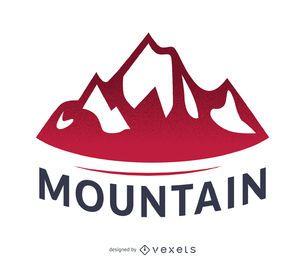Modelo de logotipo de rótulo de montanha