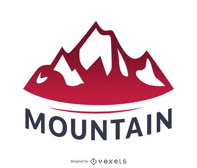 Mountain label logo template
