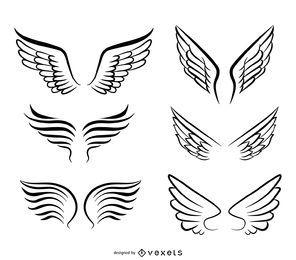 Isoladas asas de anjo ilustrações