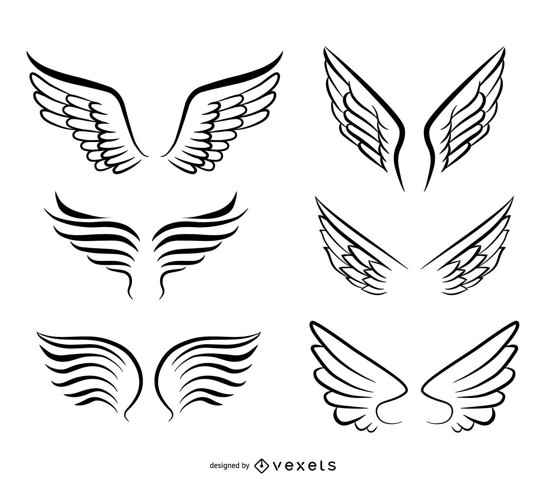 Pacote de asas de anjo