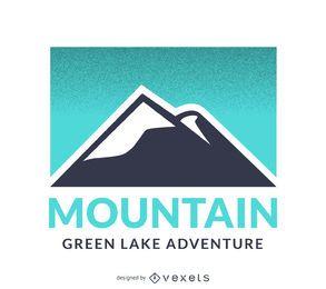 Design de modelo de logotipo de montanha