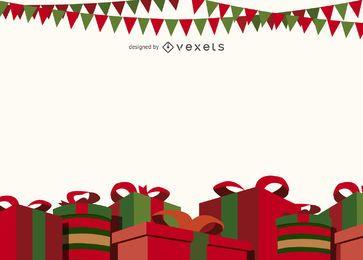 Navidad cajas de regalo de fondo