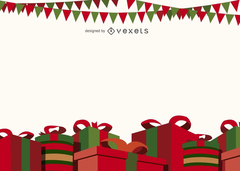 Fondo de cajas de regalo de navidad