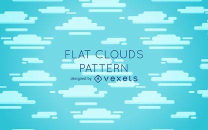 Design de padrão de nuvens planas