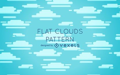 Diseño de patrón de nubes planas