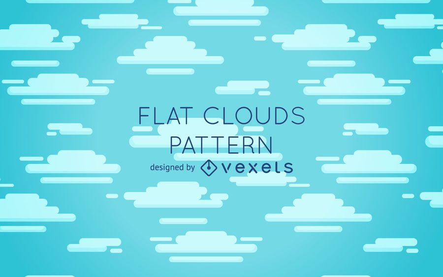 Flat clouds pattern design
