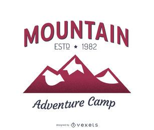 Design de modelo de logotipo de rótulo de montanha