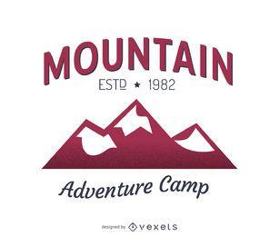 Projeto do molde do logotipo da etiqueta da montanha