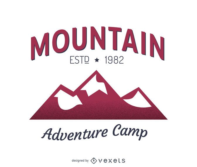 Diseño de plantilla de logotipo de etiqueta de montaña