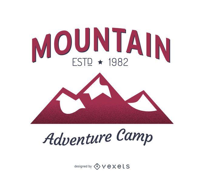 Mountain label logo template design