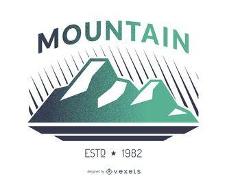 Design de logotipo de rótulo de montanha