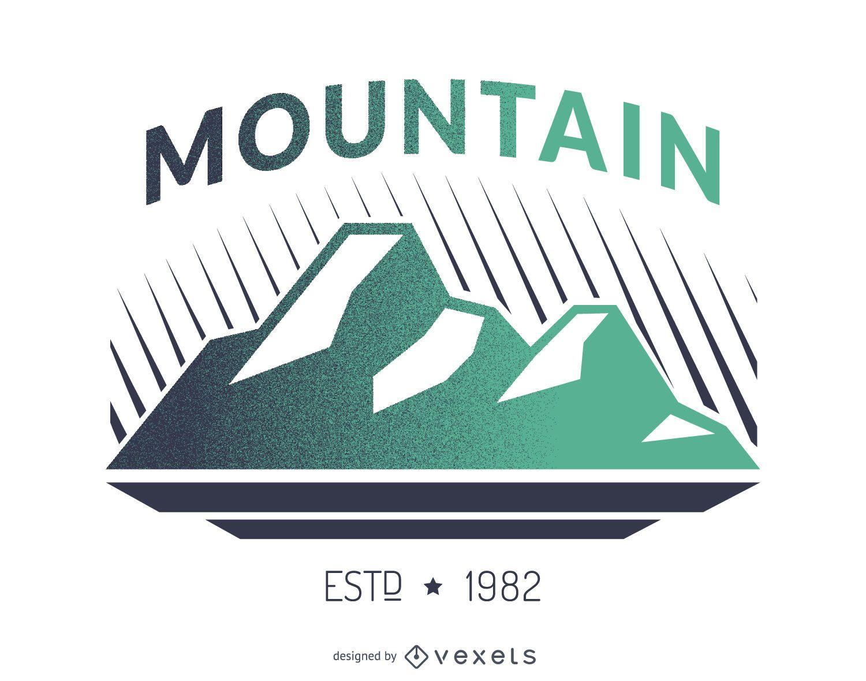 Diseño de logotipo de etiqueta de montaña