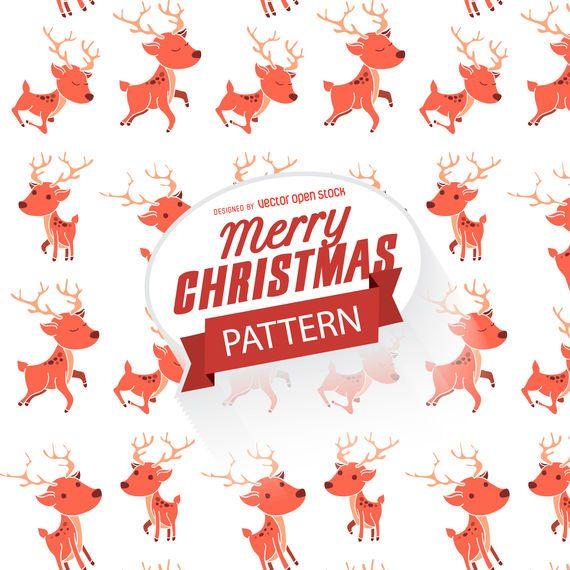 Flat Christmas reindeer pattern
