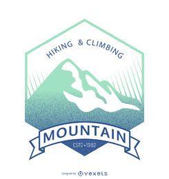 Modelo de distintivo de rótulo de montanha