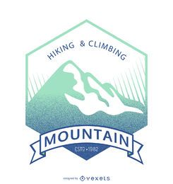 Mountain label badge template