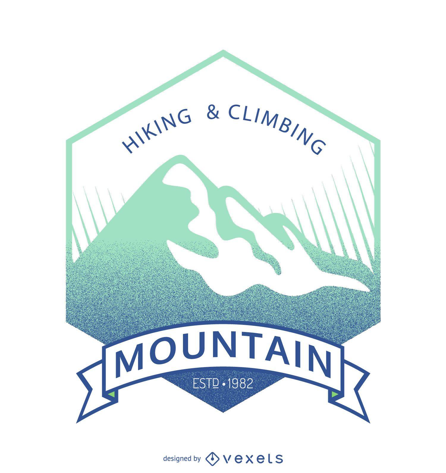 Plantilla de insignia de etiqueta de montaña