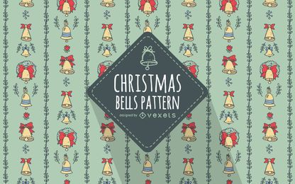 Hand drawn Christmas bells pattern