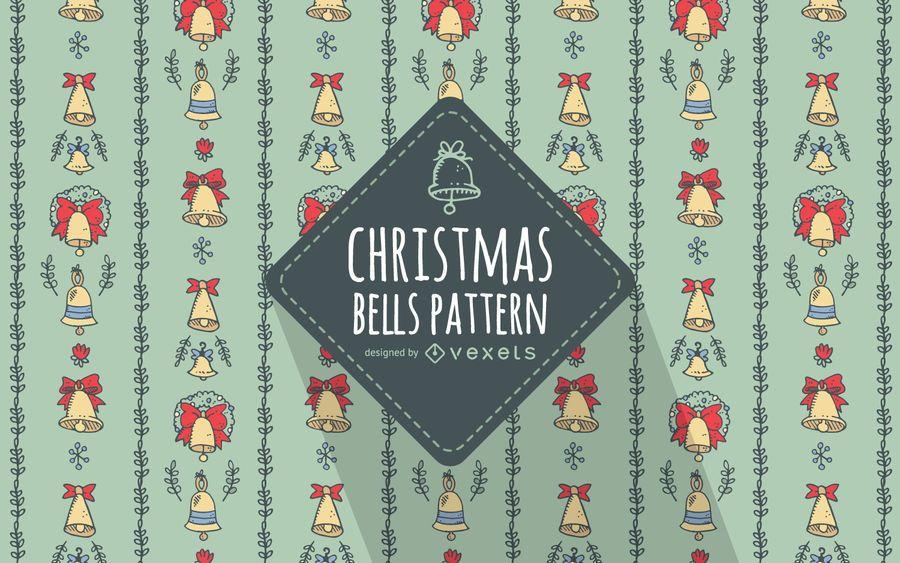 Hand drawn Christmas bells pattern