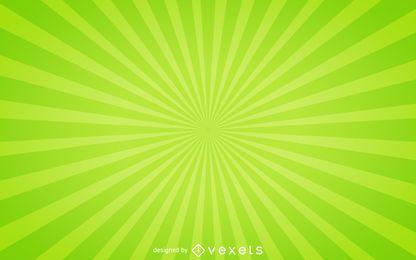 Grüner Starburst-Hintergrund