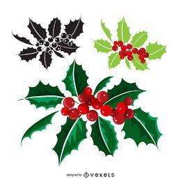 Muérdago navideño de diferentes estilos.