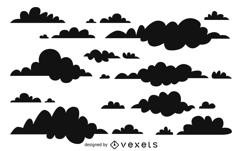 Diseño de fondo de siluetas de nubes