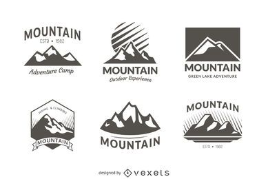 6 mountain badge logo templates