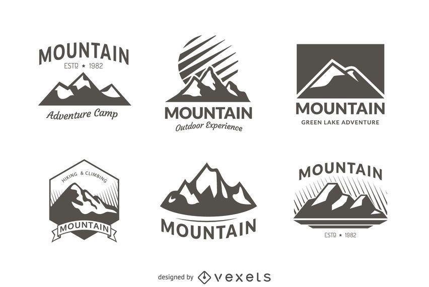 6 Logo-Vorlagen für Bergabzeichen