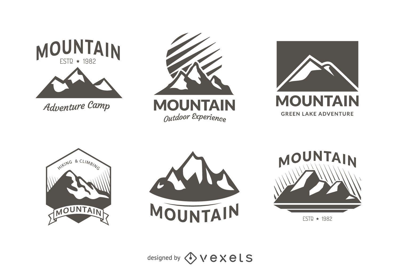 6 mountain badge logo templates - Vector download